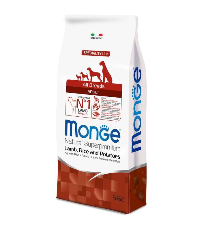 Monge cane adult all breeds agnello riso e patate 12 kg