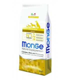 Monge cane adult all breeds pollo riso e patate 12 kg