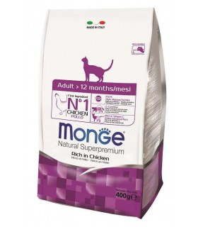 Monge gatto natural superpremium adult pollo 400 gr