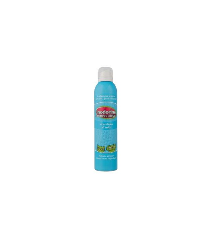 Inodorina shampoo mousse al profumo di talco 300 ml